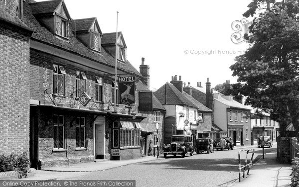 Photo of Nettlebed, White Hart Hotel And High Street c.1955