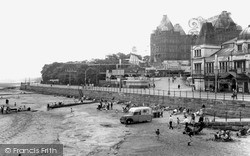 New Brighton, The Beach And Tower c.1960