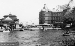 New Brighton, The Boating Pool And Tower Buildings c.1960