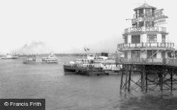 New Brighton, The Royal Iris Approaching Pier c.1960
