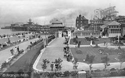 New Brighton, Victoria Gardens, Pier And Promenade c.1915