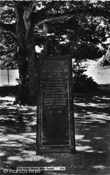 New Forest, The Rufus Stone c.1955