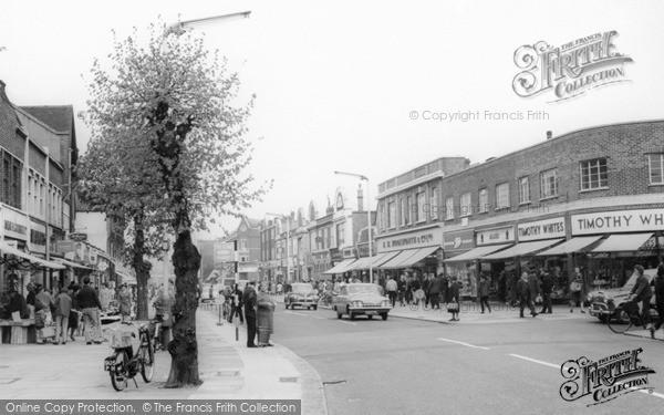 Photo of New Malden, High Street c.1965