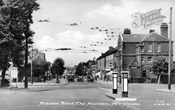 Malden Road, The Fountain c.1955, New Malden
