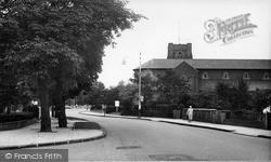 St James Church c.1955, New Malden
