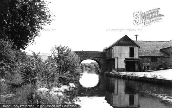 Photo of New Mill, The Canal c.1955