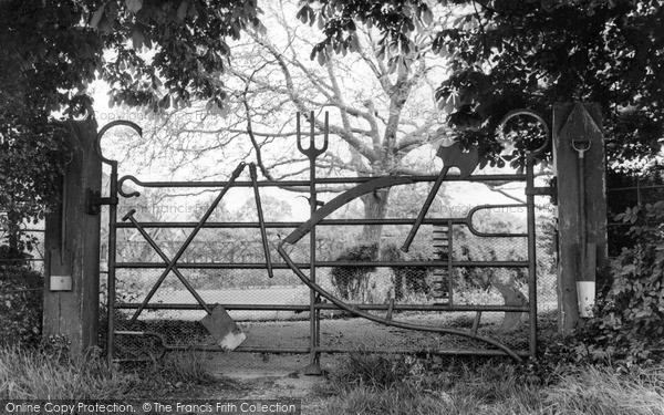 Photo of New Mill, The Implement Gate c.1955