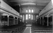 New Mills, the Church interior c1960