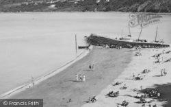 New Quay, Beach And Penpolion c.1955