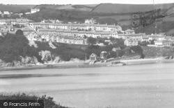 New Quay, Central From Traethgwyn c.1933