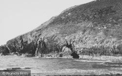 New Quay, Cliffs At Cwmtydu c.1955