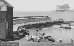 New Quay, Harbour And Pier c.1955