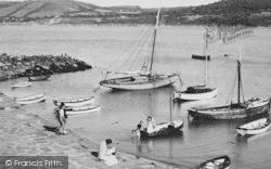 New Quay, Harbour c.1955