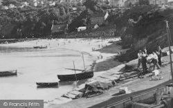 New Quay, Pier Head And Beach c.1955