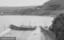 New Quay, The Beach c.1955