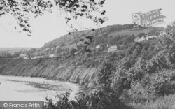 New Quay, The Cliffs From The Park c.1933