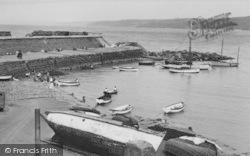 New Quay, The Harbour c.1955