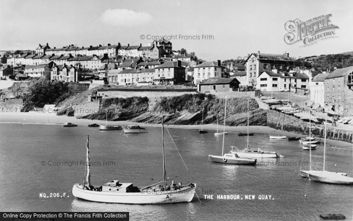 Photo of New Quay, The Harbour c.1960