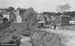 New Quay, The Harbour Side c.1950