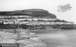 New Quay, The Terrace From The Harbour c.1950