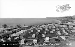 New Quay, Traeth Gwyn Caravan Site c.1960
