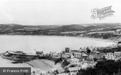 New Quay, View From Pencraig c.1960