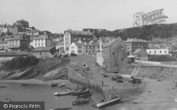 New Quay, View From The Harbour c.1950