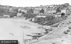 New Quay, View From The Harbour c.1955