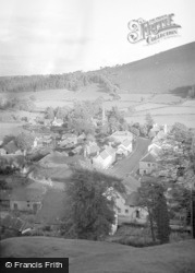 New Radnor, General View From The Castle 1950