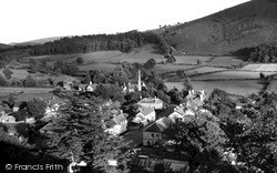 New Radnor, View From The Castle 1950