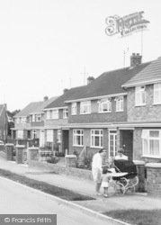 New Waltham, Mother And Pram, The Harvest Moon Estate c.1960
