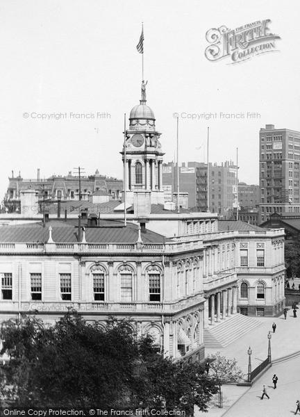 Photo of New York, City Hall 1895