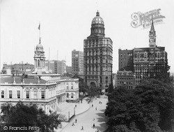 City Hall, Pulitzer Building And Tribune Buildings 1895, New York