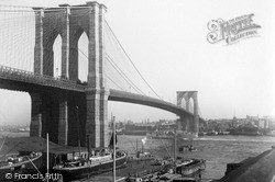 East River Bridge c.1900, New York