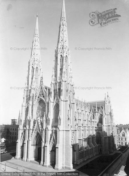 Photo of New York, St Patrick's Cathedra, 5th Avenue c.1900