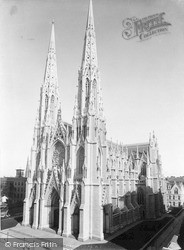 St Patrick's Cathedra, 5th Avenue c.1900, New York