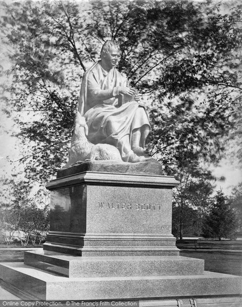 Photo of New York, Statue Of Sir Walter Scott, Central Park c.1868