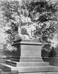 New York, Statue Of Sir Walter Scott, Central Park c.1868