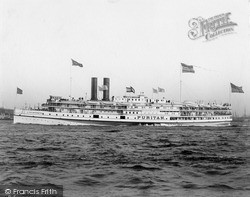 Steamer From Fall River c.1900, New York