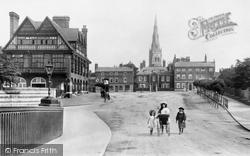 Newark-on-Trent, From Trent Bridge 1909