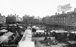 Newark-on-Trent, Market Place 1890