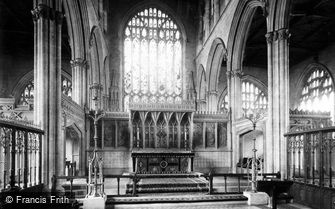 Newark-on-Trent, Parish Church, Chancel c1875