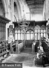 Newark-on-Trent, Parish Church, Choir c1875