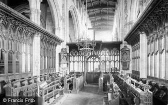 Newark-on-Trent, Parish Church, Choir looking West c1875
