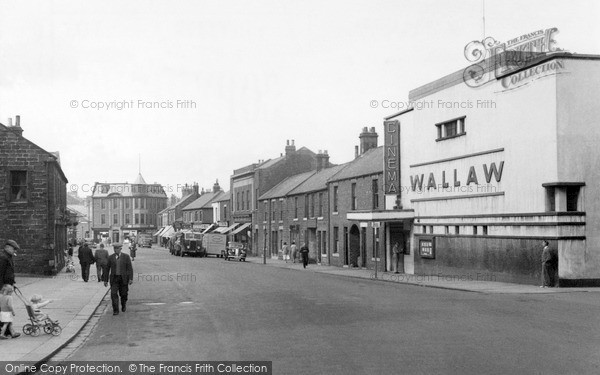 Photo of Newbiggin-By-The-Sea, Front Street c1955, ref. N76003