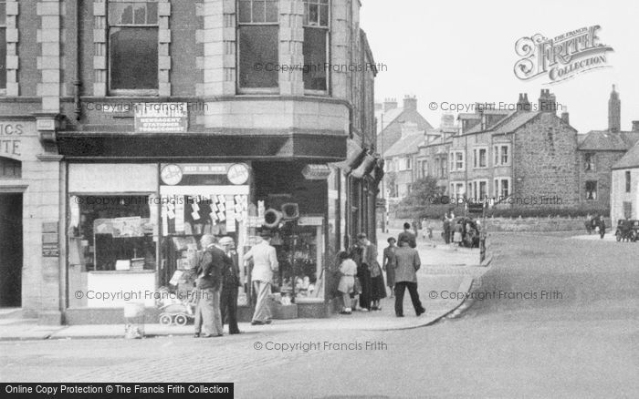 Photo of Newbiggin By The Sea, Newsagents, Front Street c.1955
