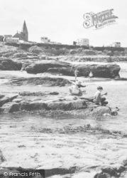 Newbiggin-By-The-Sea, Rocks On The Beach c.1955
