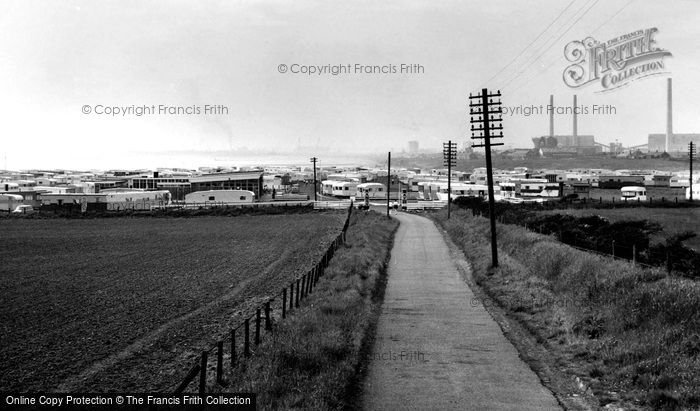 Photo of Newbiggin By The Sea, Sandy Bay Caravan Site c.1960