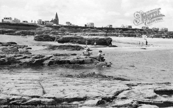 Photo of Newbiggin By The Sea, The Beach c.1955