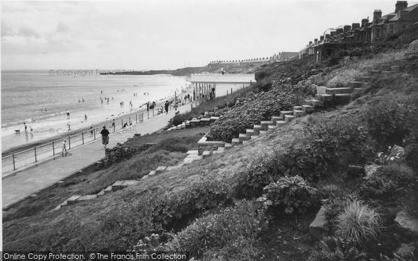 Photo of Newbiggin-By-The-Sea, the Beach c1960, ref. N76041
